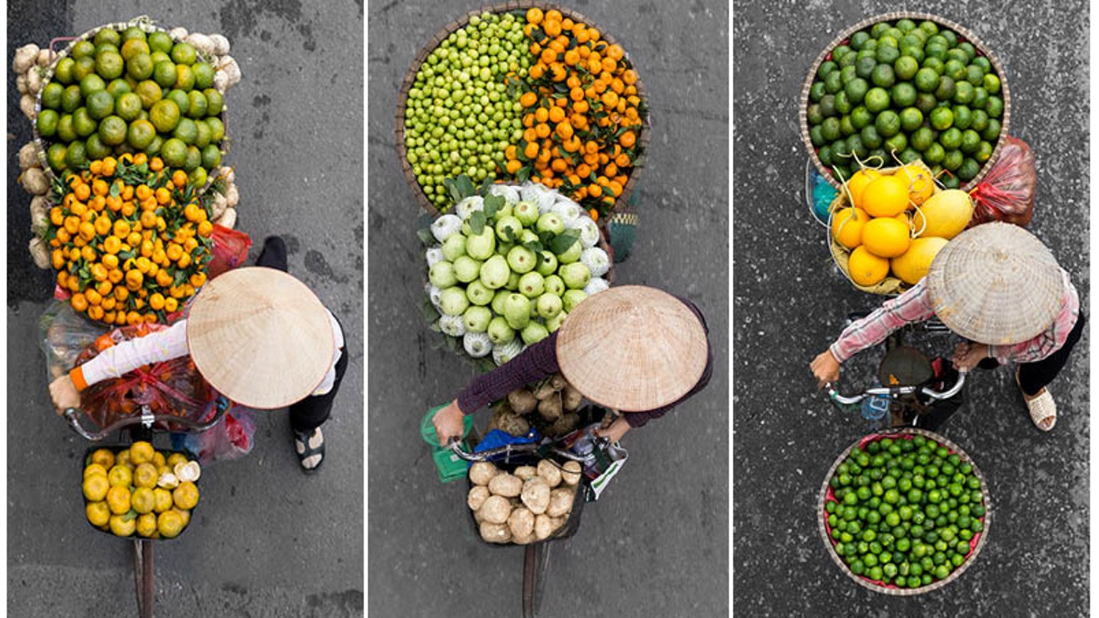 A photography book filled with amazing pictures showcasing the diversity in colors and the life of street vendors in Hanoi.