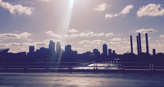 The Minneapolis skyline (2016).