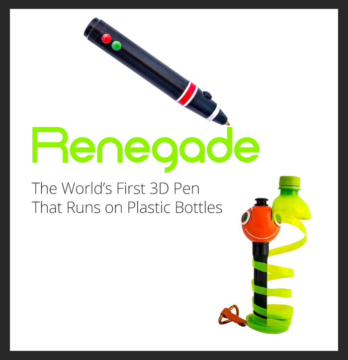 Renegade: The World's First 3D Pen to Run on Plastic Bottles