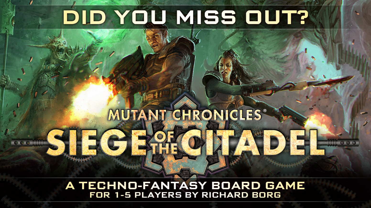The miniatures boardgame set in the Mutant Chronicles Universe, designed by Richard Borg