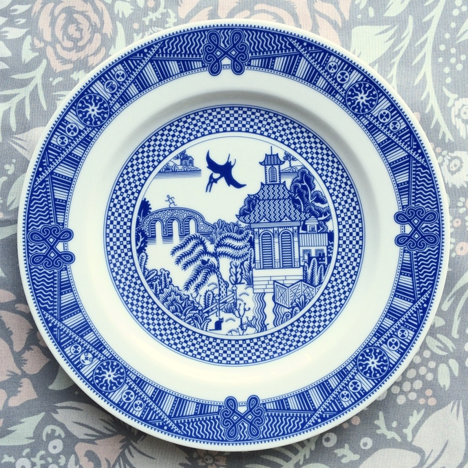 Calamityware dinner plate 12: pterodactyl (pteranodon)