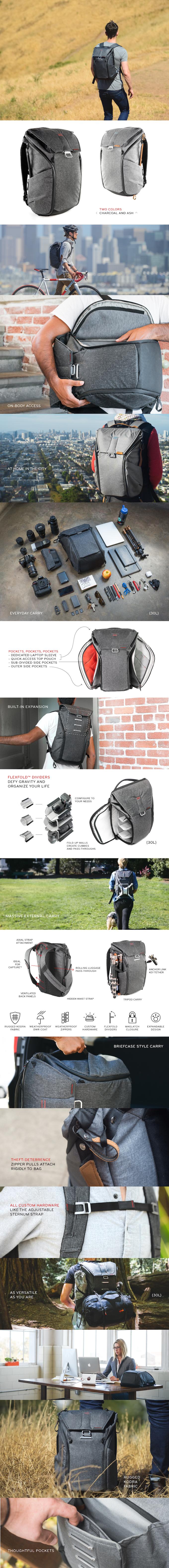 The Everyday Backpack Tote And Sling By Peak Design Kickstarter Tas Kamera Messenger Camera Bag Honx 008 Khaki Find Your Size