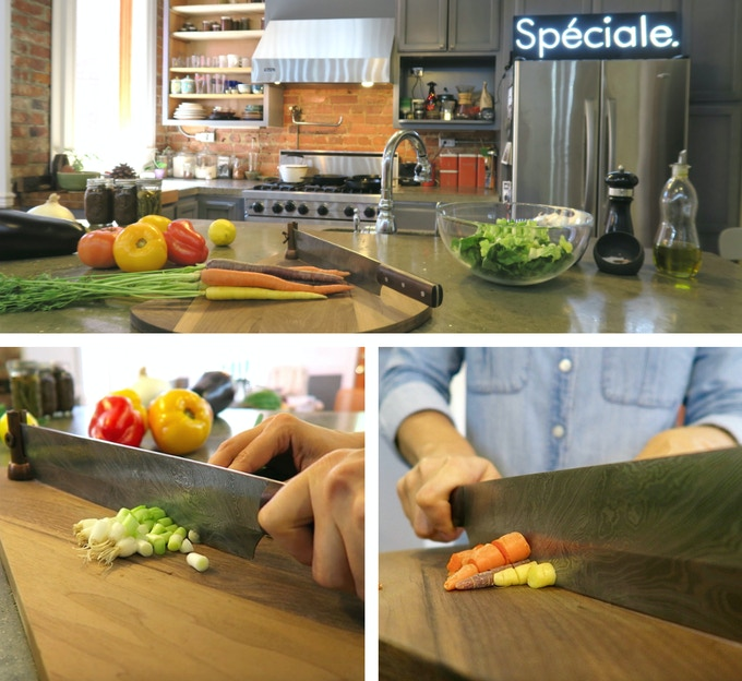 Spéciale is great for right and left handed chefs.