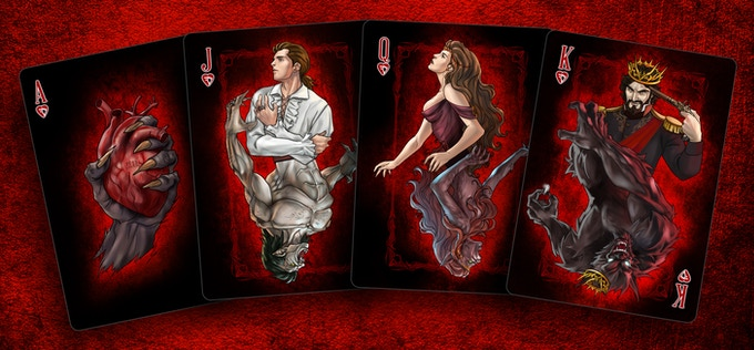 Werewolves Ace & Court cards, Click for high res