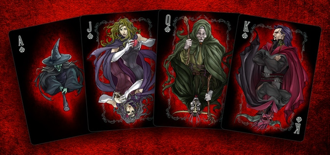 Witches Ace & Court cards, Click for high res