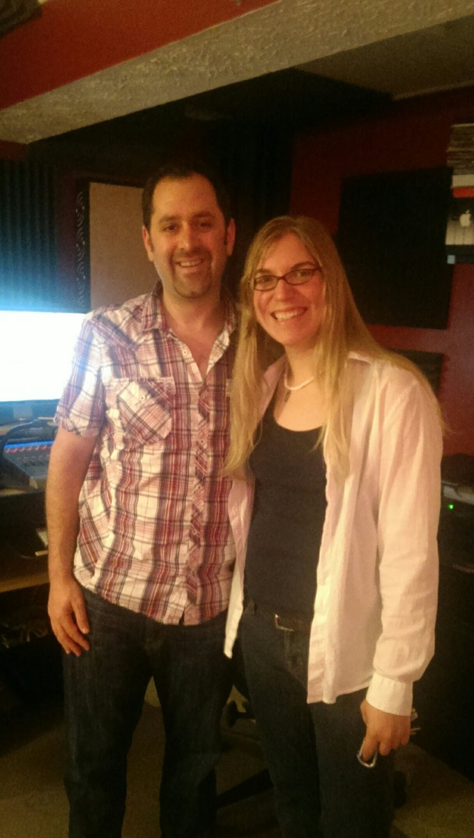 Kipyn with Dave Mallen, engineer and producer at Innovation Station Music