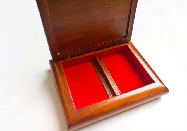 Premium red velvet for interior