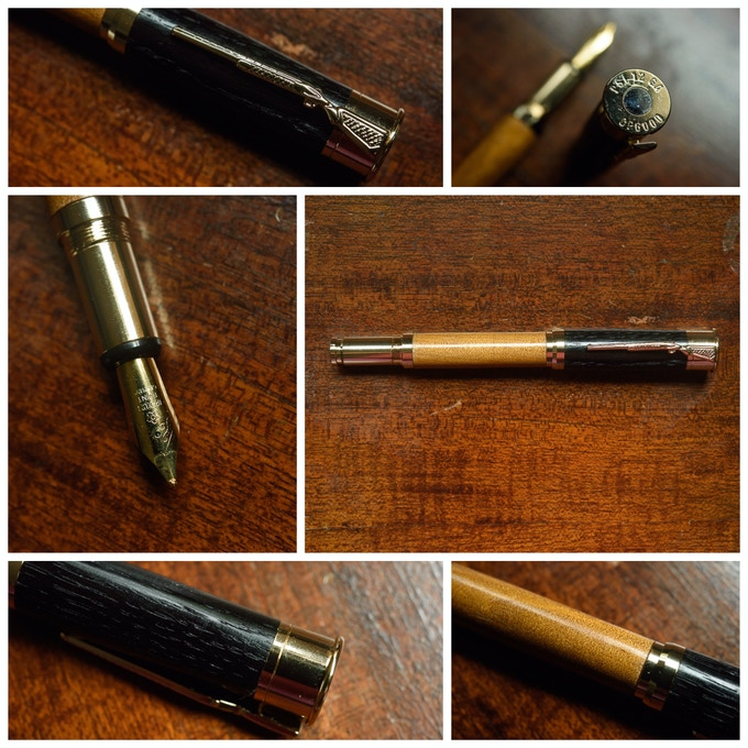 Shotgun Fountain Pen in Gold