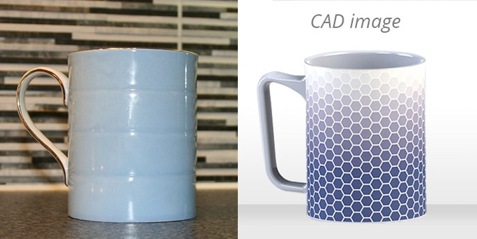Handle and mug decoration - before and after