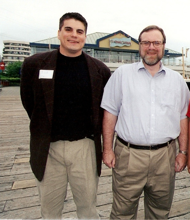Paul Allen, Microsoft co-founder and Seattle Seahakws owner and THESportsTechie, Bob Roble