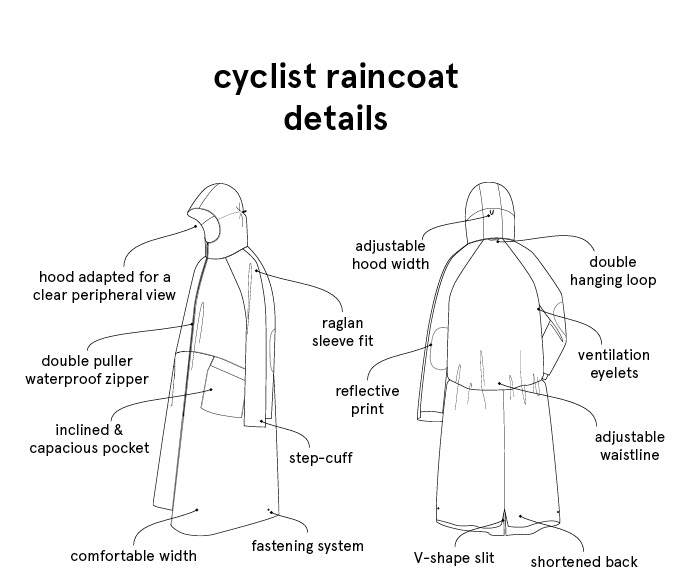 Cyclist Raincoat, your urban lifestyle essential. by