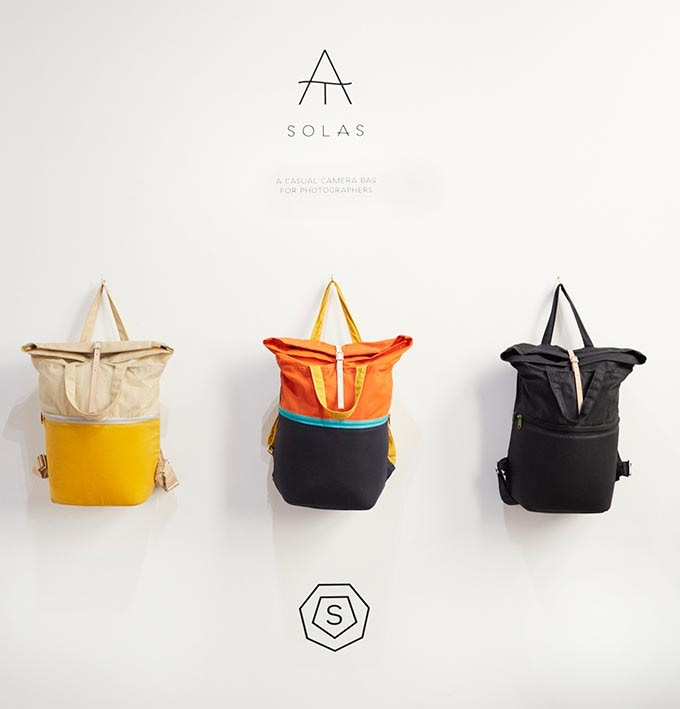 Solas, A cool and adventure loving camera bag. Leave your heavy and bulky kit at home and safely bring all your essentials along for the day.