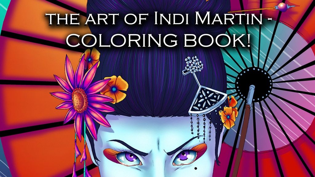 The Art of Indi Martin - Adult Coloring Book! project video thumbnail