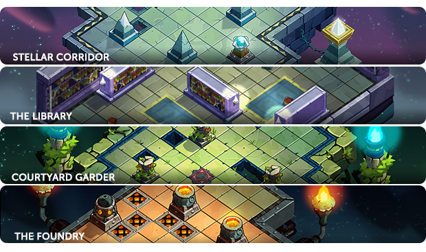 The 4 actual maps. More to come!