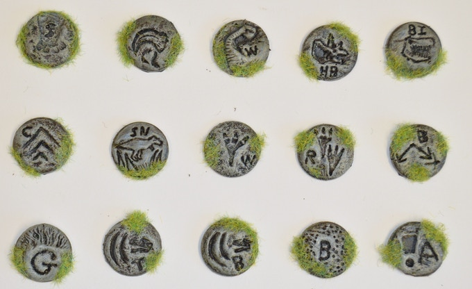 The hand sculpted tokens feel great and are very resilient.