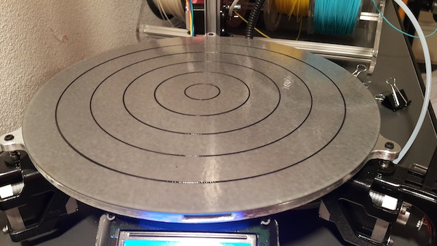 1st layer calibration circles