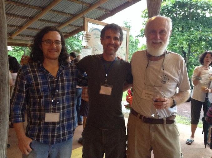 Danillo Solano, Antonio Marxuach and Steven Farrell at #Regeneration2015 at Finca Luna Nueva in 2015