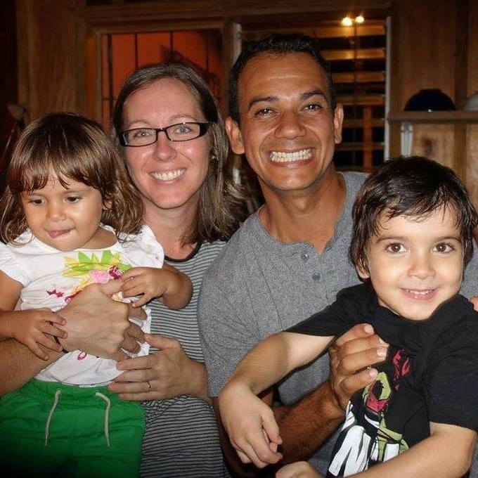 Lindy and Ismael with their Two Little Monkeys, our dear friends and fellow chocolatiers in Costa Rica