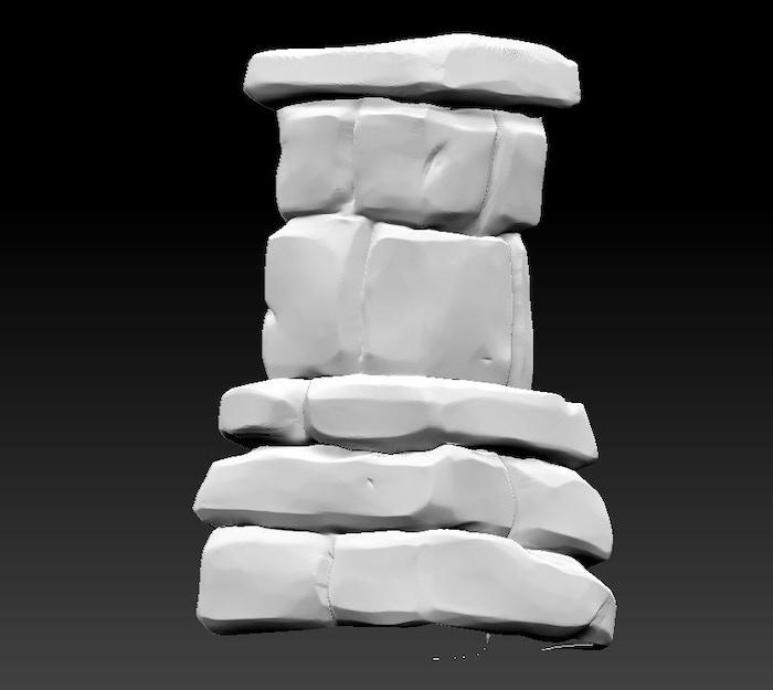 Pillar in ZBrush