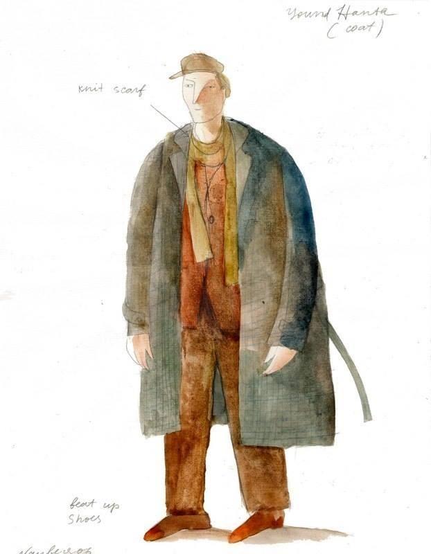 Too Loud a Solitude Costume Design Sketch Incentive Reward. Artist: Yevgenia Nayberg