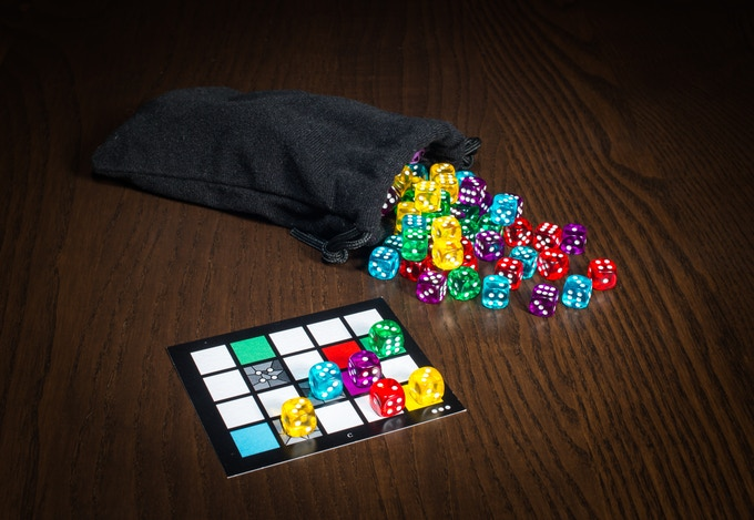 Glass Window with Dice - Prototype Components Shown