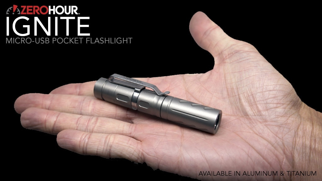 ZEROHOUR IGNITE: Titanium Micro-USB Pocket Flashlight project video thumbnail