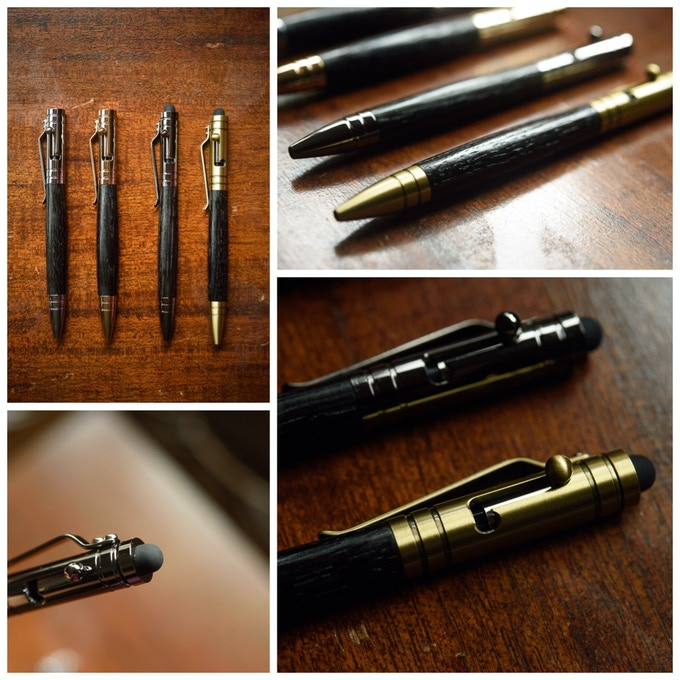 Bolt Action Tech Pen (Available in 4 different finishes)