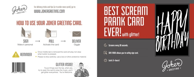 Prank greeting cards that dont stop playing music by travis birthday screamer m4hsunfo