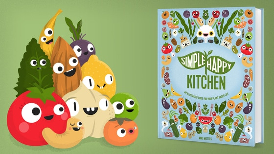 Simple Happy Kitchen: Illustrated Guide for Plant-Based Life