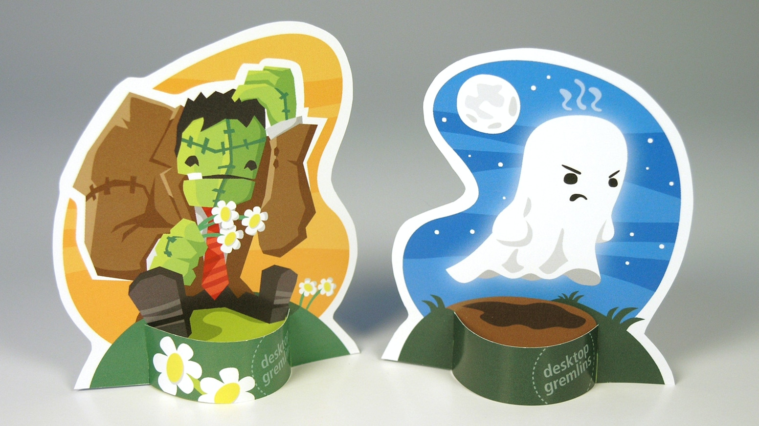 Desktop Gremlins Papercraft: Spooky Monsters by David Landis