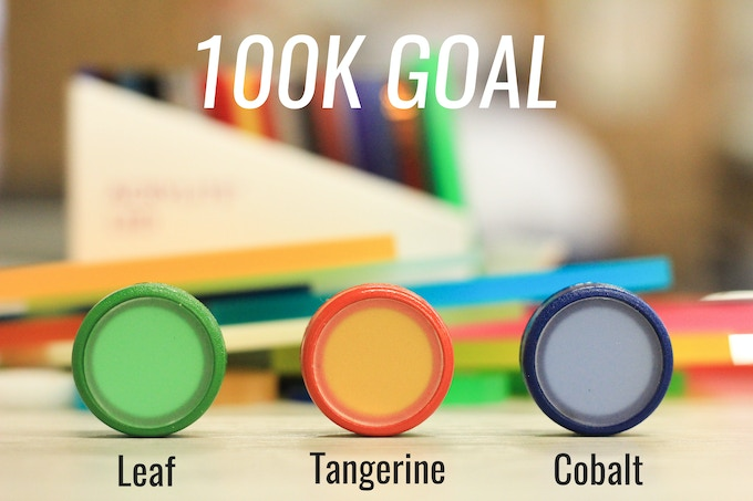 100k Stretch Goal-- 3 new colors!