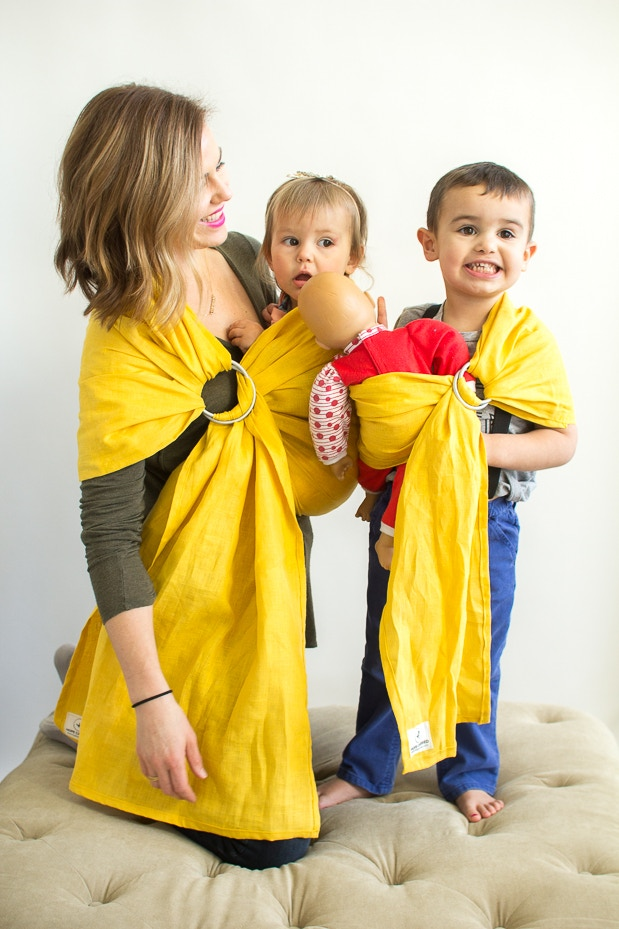 Hope Carried Founder Brea Albulov with her 2 kids, Josephine and Holden