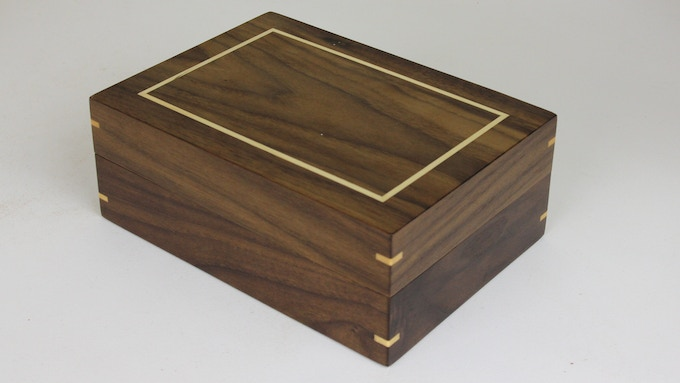 "Walnut ""Box of Holding"" with Maple Inlay"