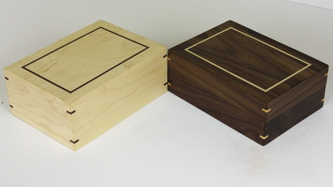 "Two ""Box of Holding"" with contrasting inlays"