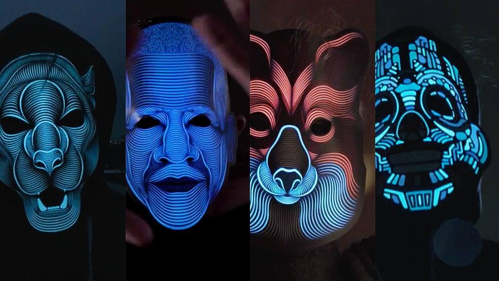 The Sound Reactive LED Mask