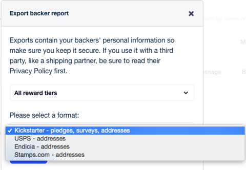 How can I use the backer export? – Kickstarter Support