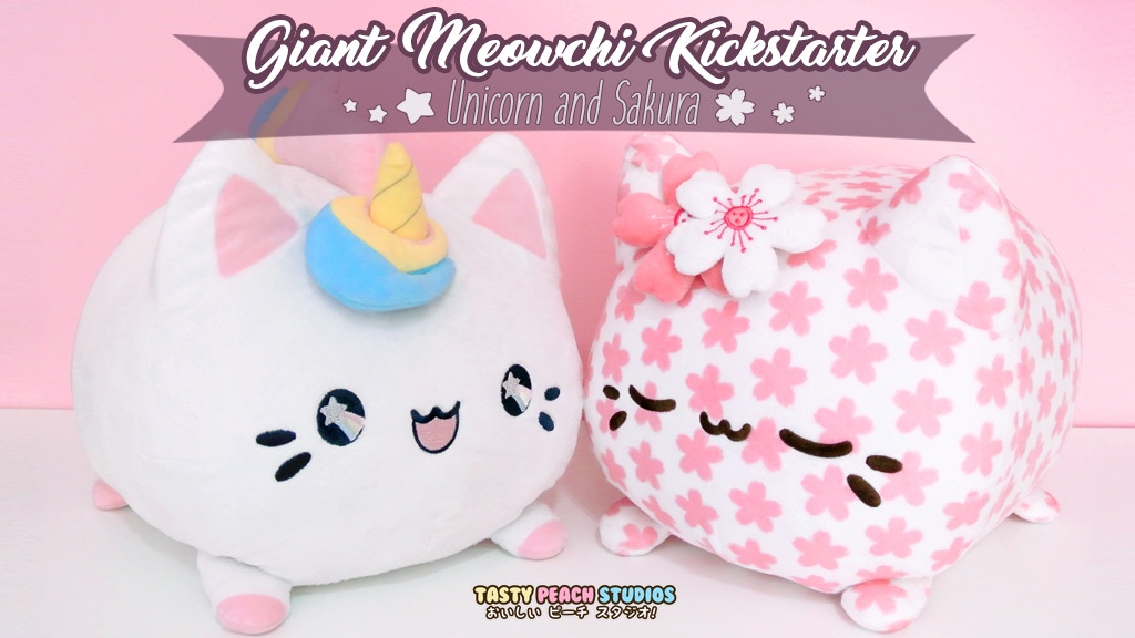 Giant Meowchi Plush - Unicorn & Sakura project video thumbnail