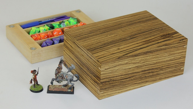 Zebrawood with Maple tray