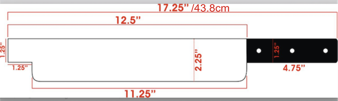 Damascus Knife's Dimensions