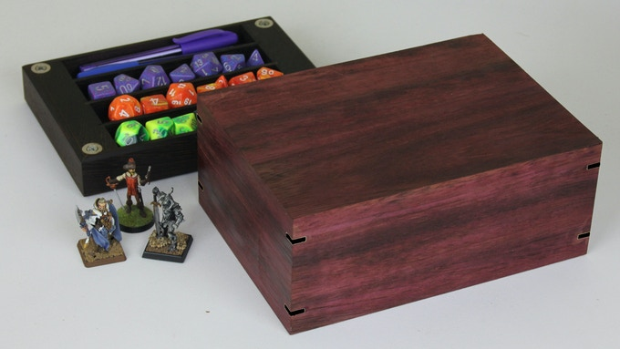 Purpleheart with Wenge tray