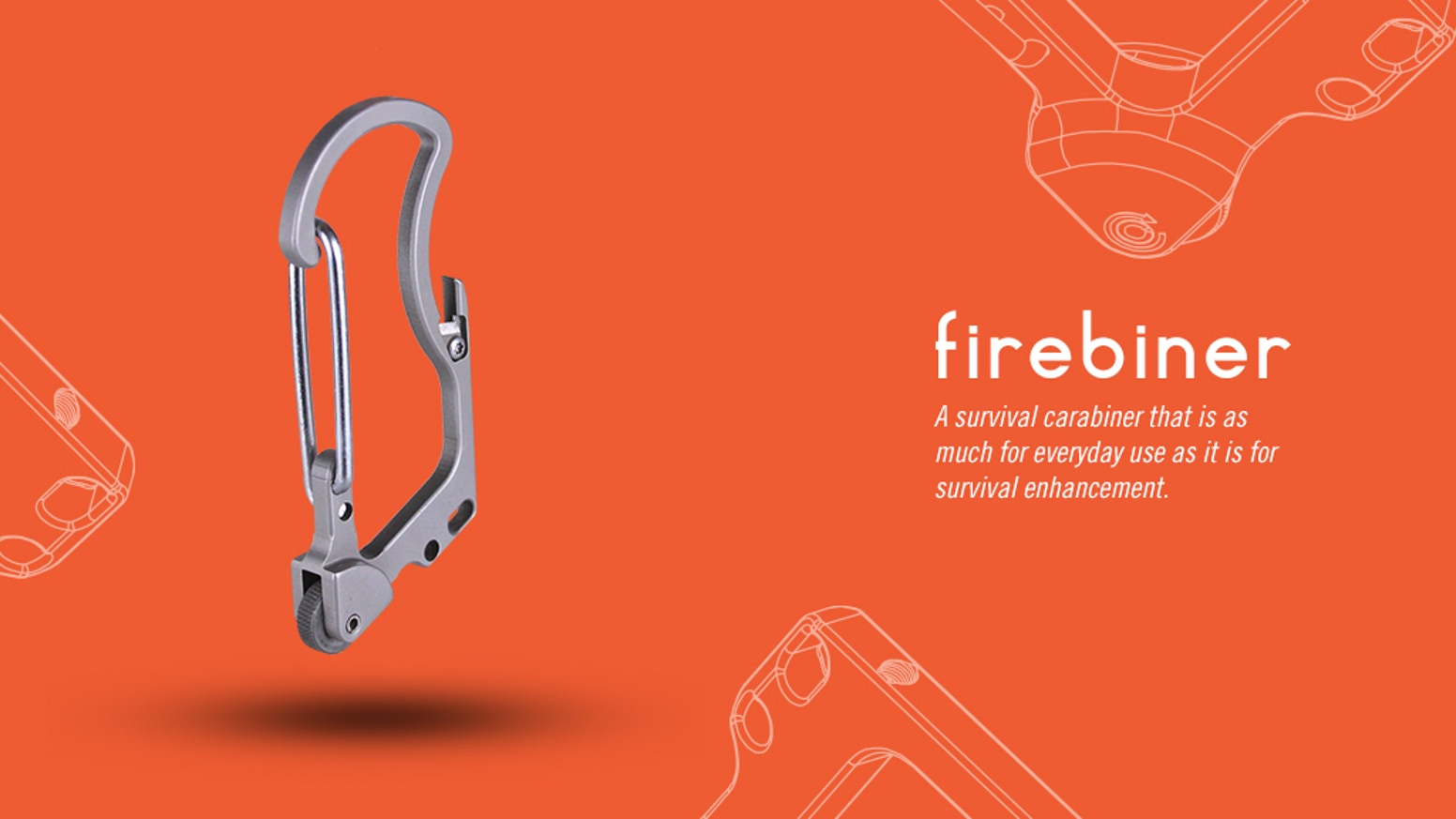 The Fire-Starting, Multi-Tool, Every-Day-Carry, Survival Carabiner you can't live without.  Make life easier and be prepared.