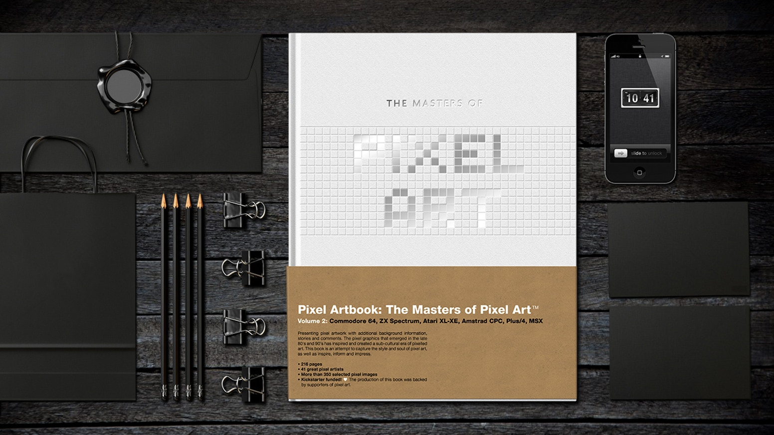 A high quality art book with pixel art from artists on some of the world's most popular 8-bit computers.