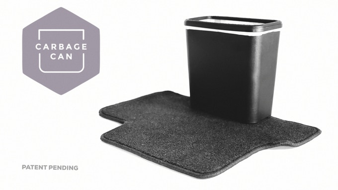 Carbage Can™ | Topple Proof, Slim Trash Can  by Raymond Furgason