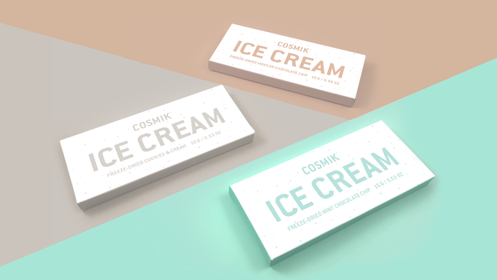 "Formerly ""Gastronaut Ice Cream"". The world's first artisanal freeze-dried ice cream. Organic and unmeltable, so you can enjoy premium ice cream anywhere on the planet."