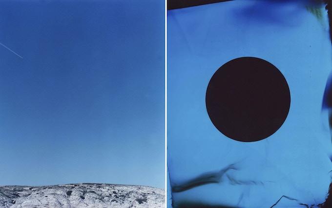 "Figure 32. 2014. diptych; c-print & photogram. 24 x 30"""