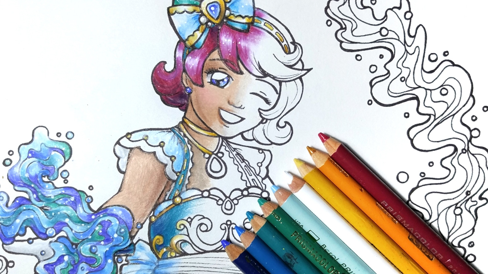 A print book collection of lovely magical girl designs for your coloring pleasure!