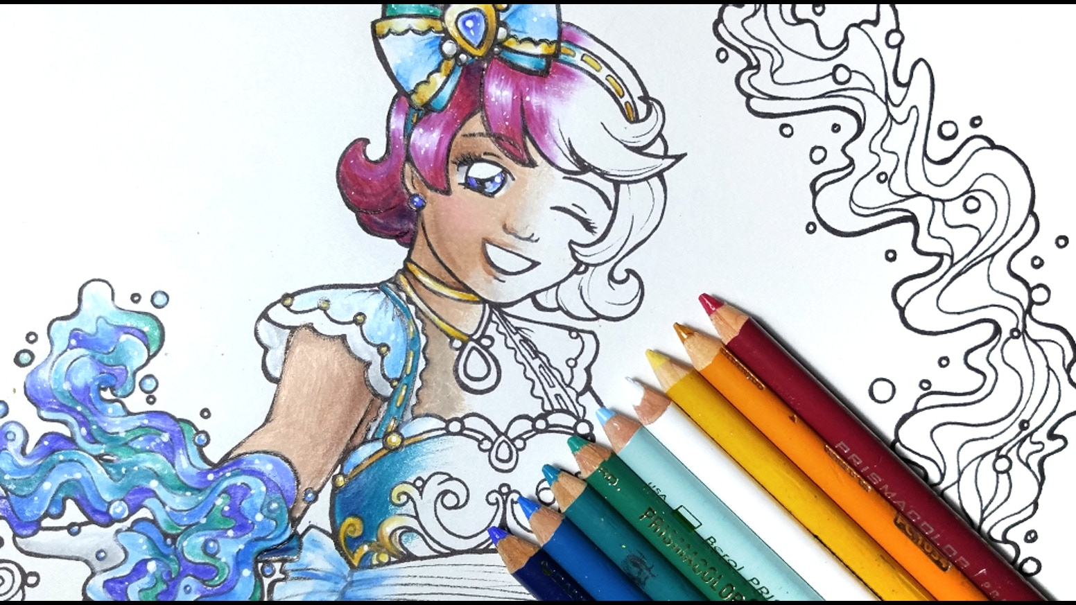 Coloring book html5 - A Print Book Collection Of Lovely Magical Girl Designs For Your Coloring Pleasure
