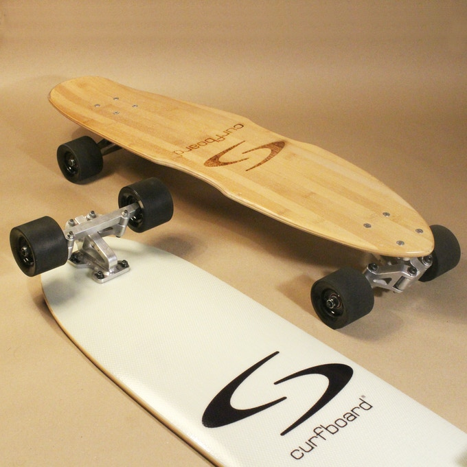 The trucks and decks are prototypes and the final serial products could look differently