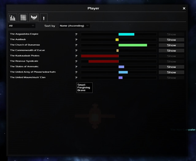 See faction traits and where they are