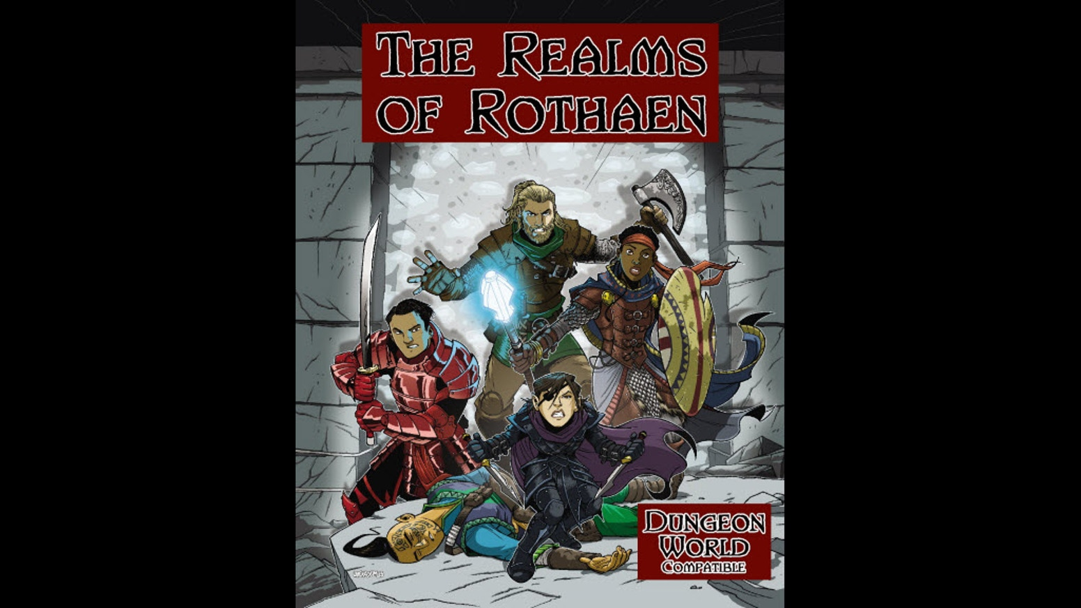 A dark pulp setting with modern story elements that is compatible with the Dungeon World system.